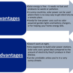 Advantages And Disadvantages Of Solar Powered Products