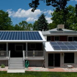 PV panels on roof of a house