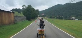 Woman completes solar-powered bike ride across US